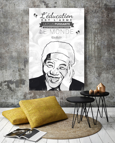 Tableau citation Mandela education