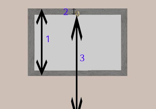 Comment centrer un tableau sur un mur