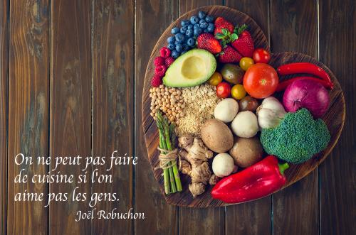 Tableau citation Joel Robuchon cuisine