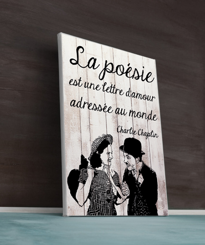 Citation poésie de Charlie Chaplin : la poésie est une lettre d'amour adressée au monde