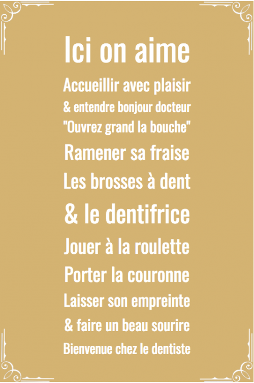 Tableau decoration dentiste